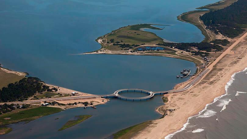 Ponte Laguna Garzón, no Uruguai