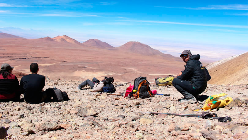A subida ao vulcão Cerro Toco em San Pedro do Atacama