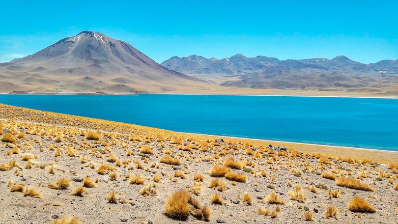 Laguna Miscanti em San Pedro, no Deserto de Atacama
