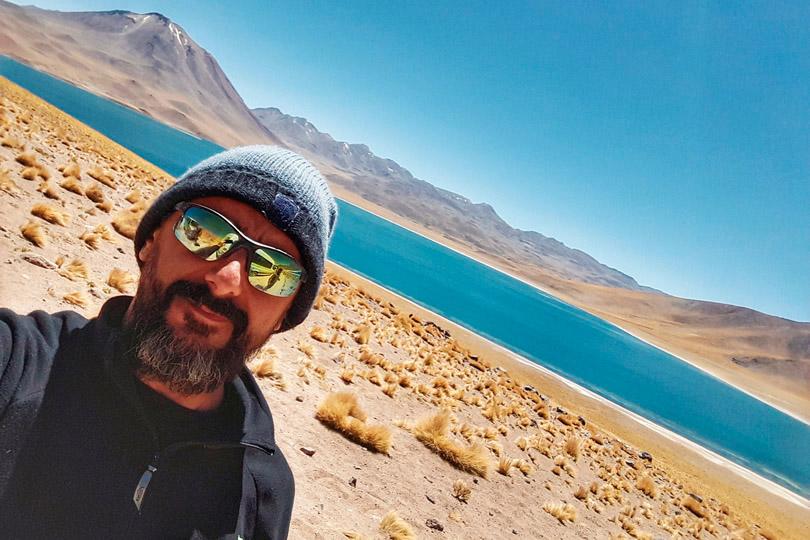 Casinha de apoio na Laguna Miscanti em San Pedro, no Deserto de Atacama