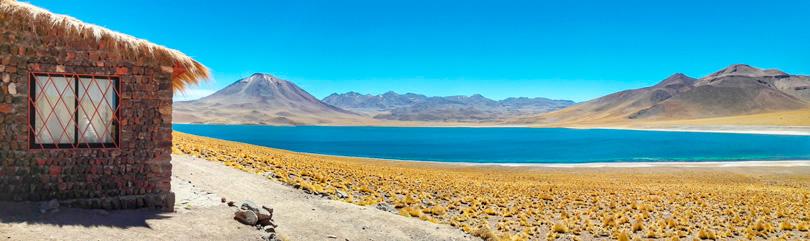 Laguna Miscanti em San Pedro de Atacama, no Deserto de Atacama