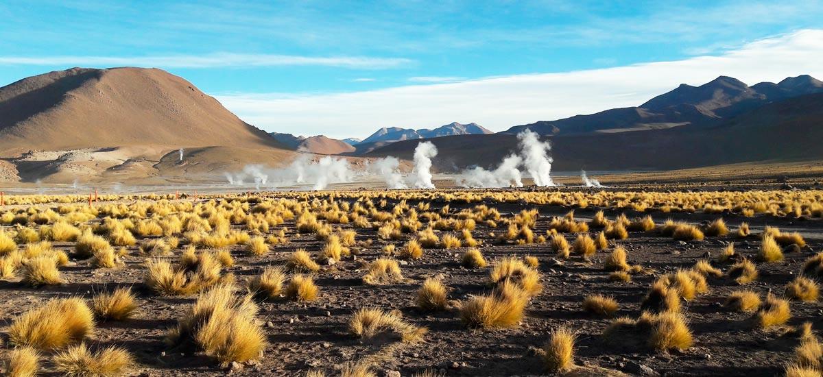 Um passeio ao conjundo de Geisers El Tatio, no Deserto de Atacama