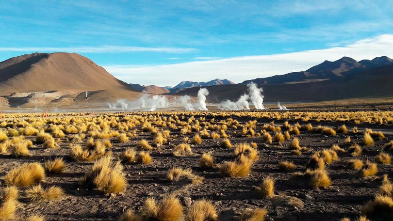 Geysers El Tatio no Deserto do Atacama