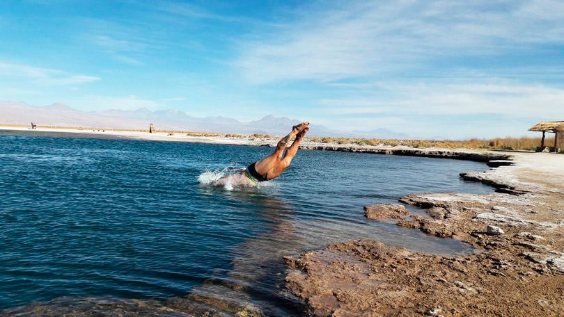 Mergulho na Laguna de Piedra, Atacama