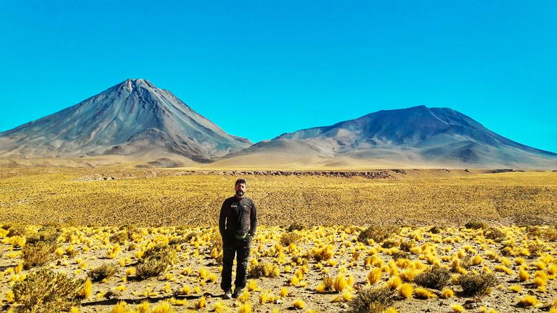 Vista do vulcão Licancabur, em San Pedro do Atacama