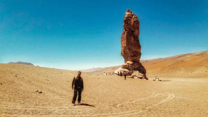 A pedra mais famosa do passeio ao Moai de Tara