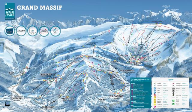 Mapa de pistas de esqui de Samoëns