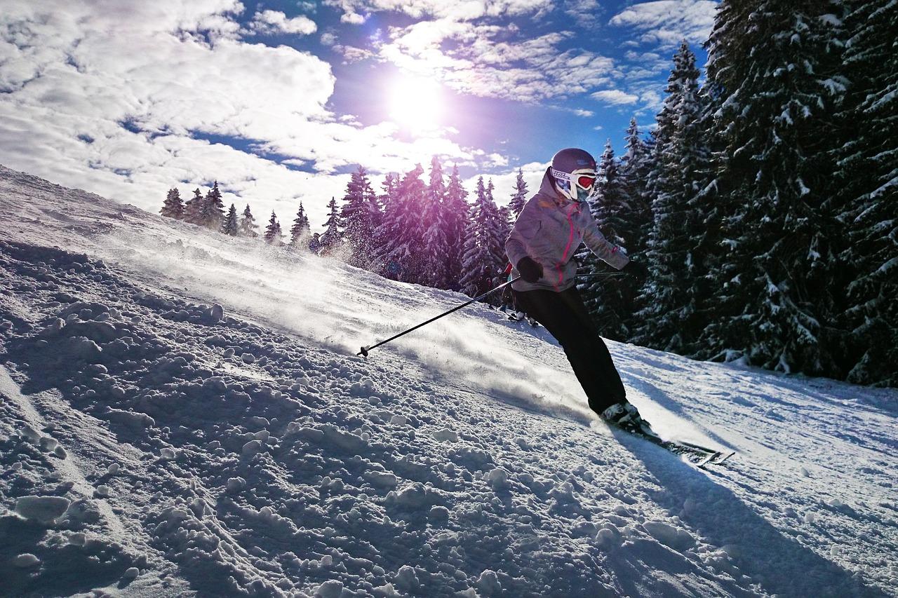 esquiando-sol